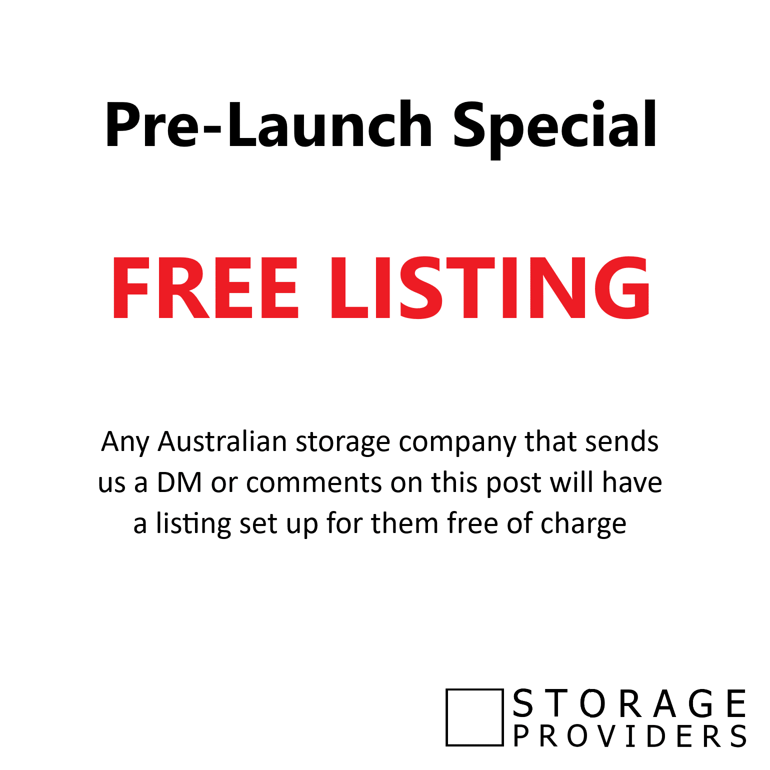 Free Listing on storageproviders.com.au
